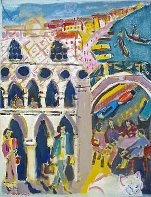 Architectur Painting - Venice Doges  Palace by Chevassus-agnes Jean-pierre