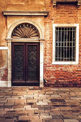Wooden Houses Photograph - Venice Door by Andrew Soundarajan
