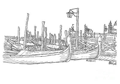 Digital Art - Venice Drawing by Cristian Ferronato