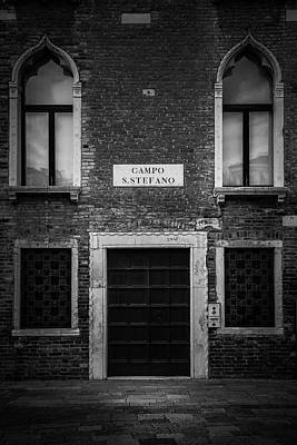 Photograph - Venice Facade by Andrew Soundarajan