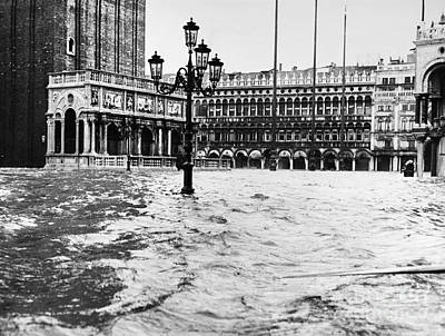 Photograph - Venice: Flood, 1966 by Granger