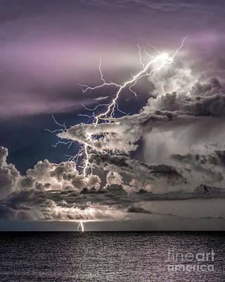 Photograph - Venice Florida Lightning by Damon Powers