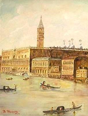 Venice From Grand Canal Art Print by Nicholas Minniti
