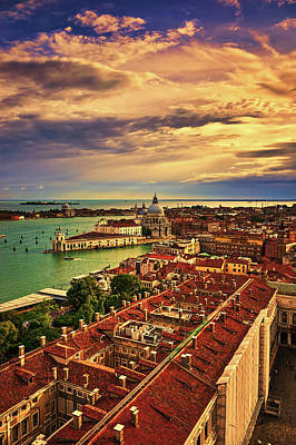 Photograph - Venice From The Bell Tower by Fine Art Photography Prints By Eduardo Accorinti