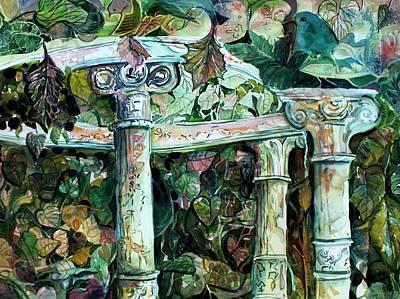 Improvisation Painting - Venice Garden by Mindy Newman