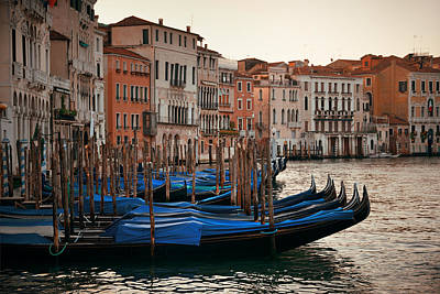 Photograph - Venice Gondola In Canal by Songquan Deng