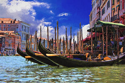 Photograph - Venice Gondolas by Ron Grafe