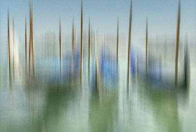 Venice Gondolas Impression 1 Art Print by Marty Garland
