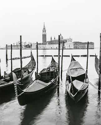 Photograph - Venice Gondolas On Film  by John McGraw
