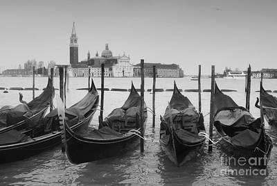 Photograph - Venice Gondolas by Rudi Prott