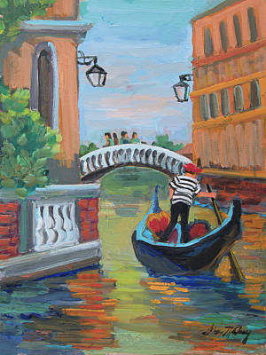 Painting - Venice Gondolier 1 by Diane McClary