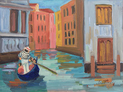 Painting - Venice Gondolier 2 by Diane McClary