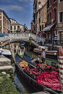 Photograph - Venice Gondolier by Shirley Mangini