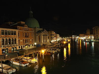 Venice Photograph - Venice Gran Canal by Giorgio Lumaconi