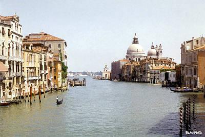 Venice Grand Canal Art Print by Al Blackford