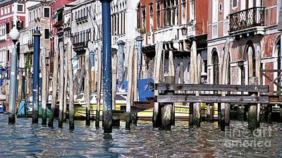 Art Print featuring the photograph Venice Grand Canal by Allen Beatty