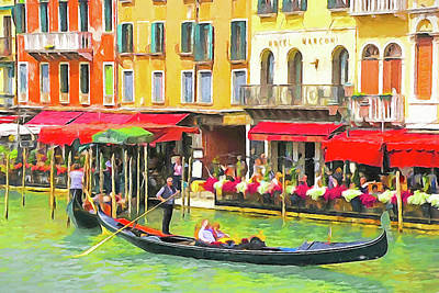 Digital Art - Venice Grand Canal by Dennis Cox WorldViews