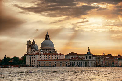 Photograph - Venice Grand Canal Sunrise by Songquan Deng