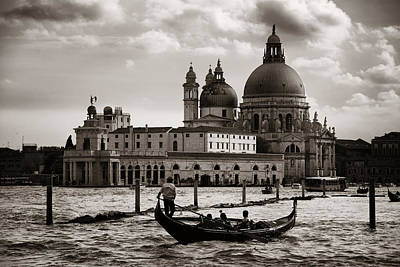 Photograph - Venice Grand Canal View by Songquan Deng