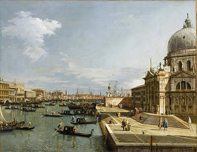 Venice - Grand Canal With Santa Maria Della Salute Print by Celestial Images
