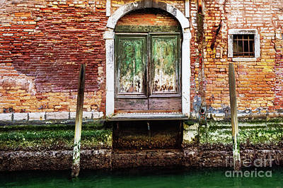Photograph - Venice Green Door House by M G Whittingham