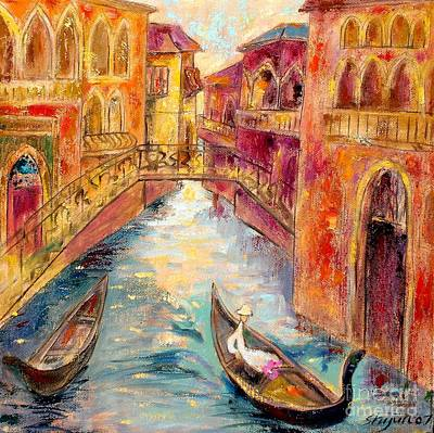 City Scape Painting - Venice I by Shijun Munns
