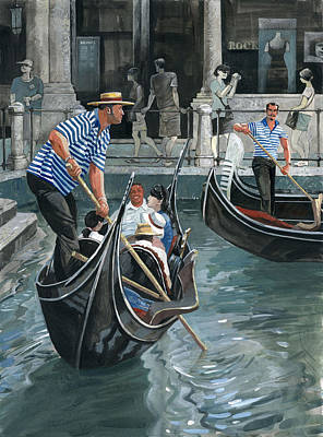 Painting - Venice. Il Bacino Orseolo by Igor Sakurov