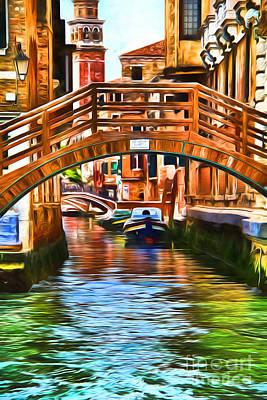 Venezia Digital Art - Venice Impression by Kasia Bitner