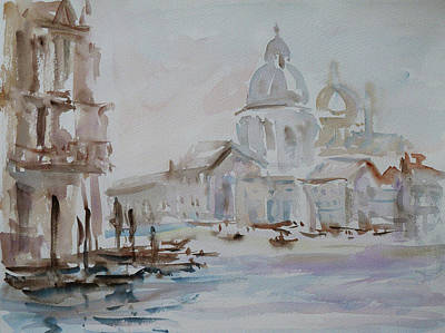 Painting - Venice Impression Vi by Xueling Zou