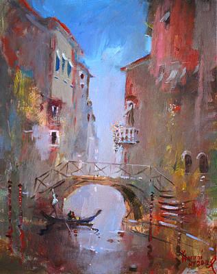 Lake Painting - Venice Impression by Ylli Haruni