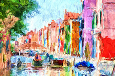 Digital Art - Venice Impressions 11 by Yury Malkov