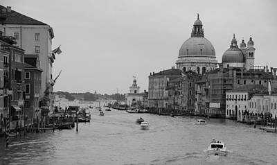 Photograph - Venice In Gray Scale by Eric Tressler
