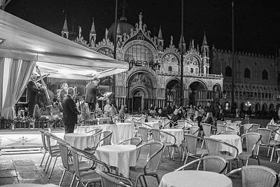 Photograph - Venice In The Evening Black And White  by John McGraw