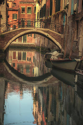 Blue Water Bridge Photograph - Venice In The Morning by Chris Fletcher