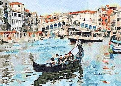 Digital Art - Venice In Water Colors 3 by Yury Malkov