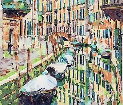 Digital Art - Venice In Water Colors 4 by Yury Malkov