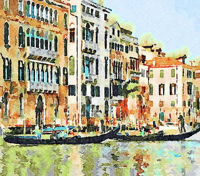 Digital Art - Venice In Water Colors 5 by Yury Malkov