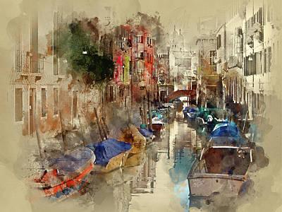 Digital Art - Venice In Water Colors by Yury Malkov