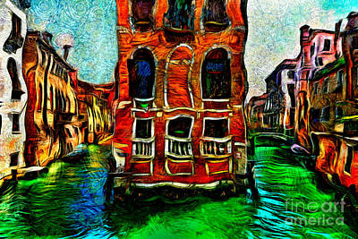 Painting - Venice Intersection by Milan Karadzic
