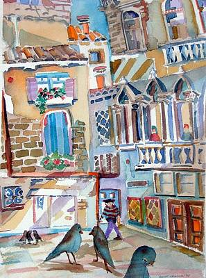 Turkish Painting - Venice Is Sinking by Mindy Newman