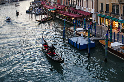 Photograph - Venice Italy - A Classic Evening On The Grand Canal  by Georgia Mizuleva