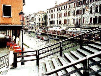 Photograph - Venice, Italy - Along A Canal by Merton Allen