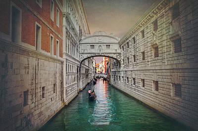 Photograph - Venice Italy Bridge Of Sighs  by Carol Japp
