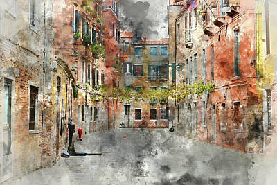 Photograph - Venice Italy Buildings by Brandon Bourdages