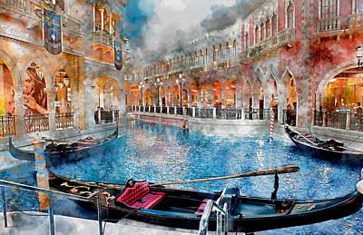Mixed Media - Venice Italy Canal by Marvin Blaine