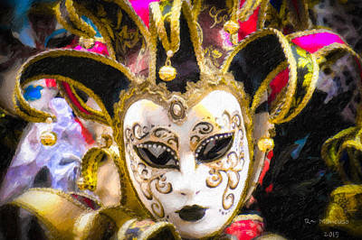 Photograph - Venice Italy Carnival Mask IIi by Russell Mancuso