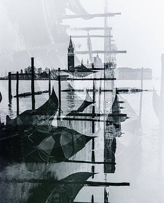 Photograph - Venice Italy Double Exposure On Film  by John McGraw