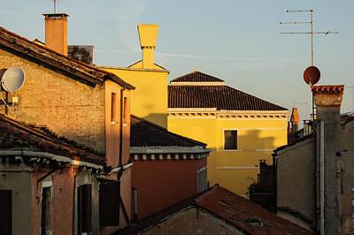 Georgia Red Clay Photograph - Venice Italy - Fabulous Rooftops And Chimneys by Georgia Mizuleva