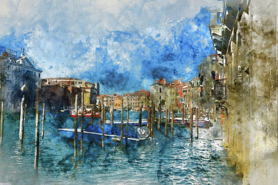 History Channel Digital Art - Venice Italy - Grand Canal by Brandon Bourdages
