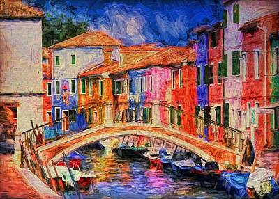 Painting - Venice Italy by Louis Ferreira